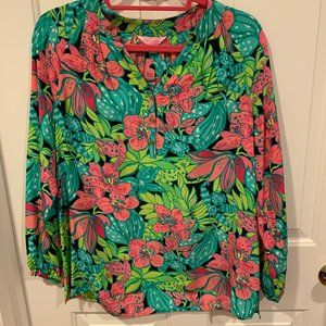 Lilly Pulitzer Elsa Top Skip on It Size S